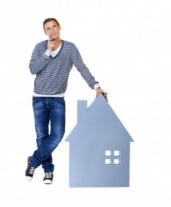 Man Thinking About Homeowners Insurance