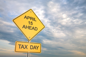 Tax Day Sign With Sky